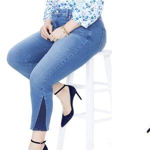 NYDJ Sheri slim shadow ankle jeans plus 20W